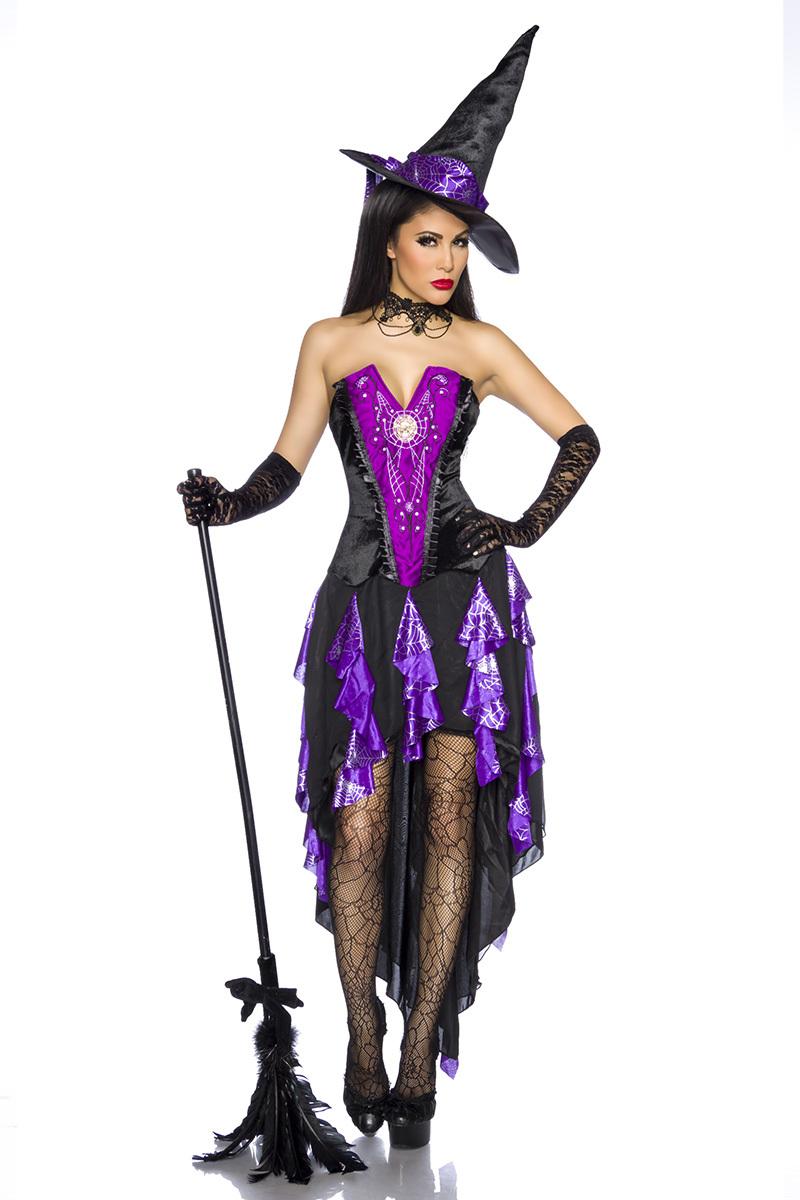 Costume da strega viola e nero lingerietorino - Costume da bagno velluto ...
