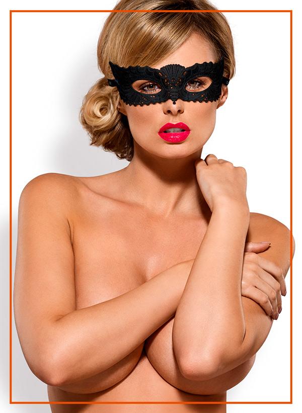 Maschera Halloween accessori lingerie intimo obsessive