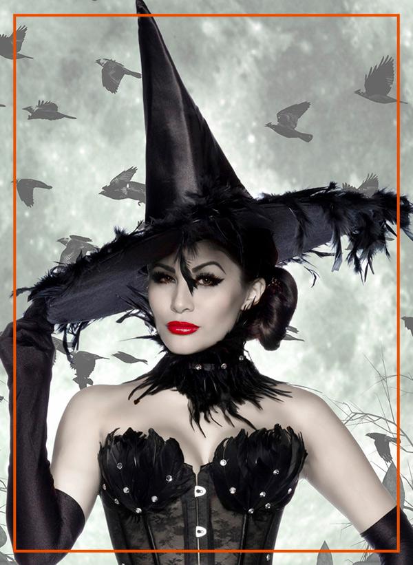 Cappello da strega accessori Halloween Lingerietorino