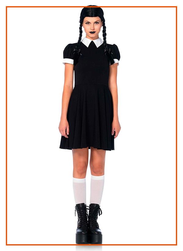 Costumi Halloween Mercoledi Addams lingerie torino
