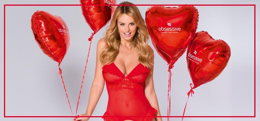 Lingerie rossa romantica per san valentino spedizioni 24 h