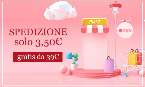 Spedizione 3,50€ gratis da 39,00€