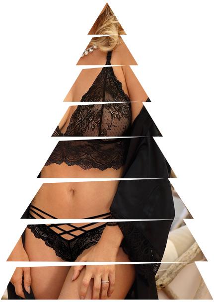lingerie nera per natale